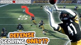 CAN I WIN A GAME BY ONLY SCORING ON DEFENSE!? Extreme Madden 18 Challenge!!