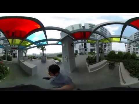 [VIDEO 360] HAUSNEO QUẬN 9 : CẬN CẢNH HÀNH LANG , PHÒNG RÁC , SÂN VƯỜN BBQ