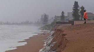 Collaroy Beach Erosion After Storm