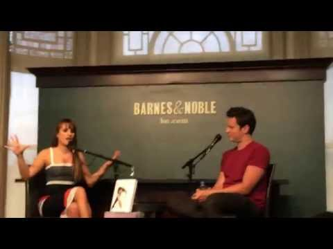 Lea Michele and Jonathan Groff Q&A Brunette Ambition signing 21/5 (part 1)
