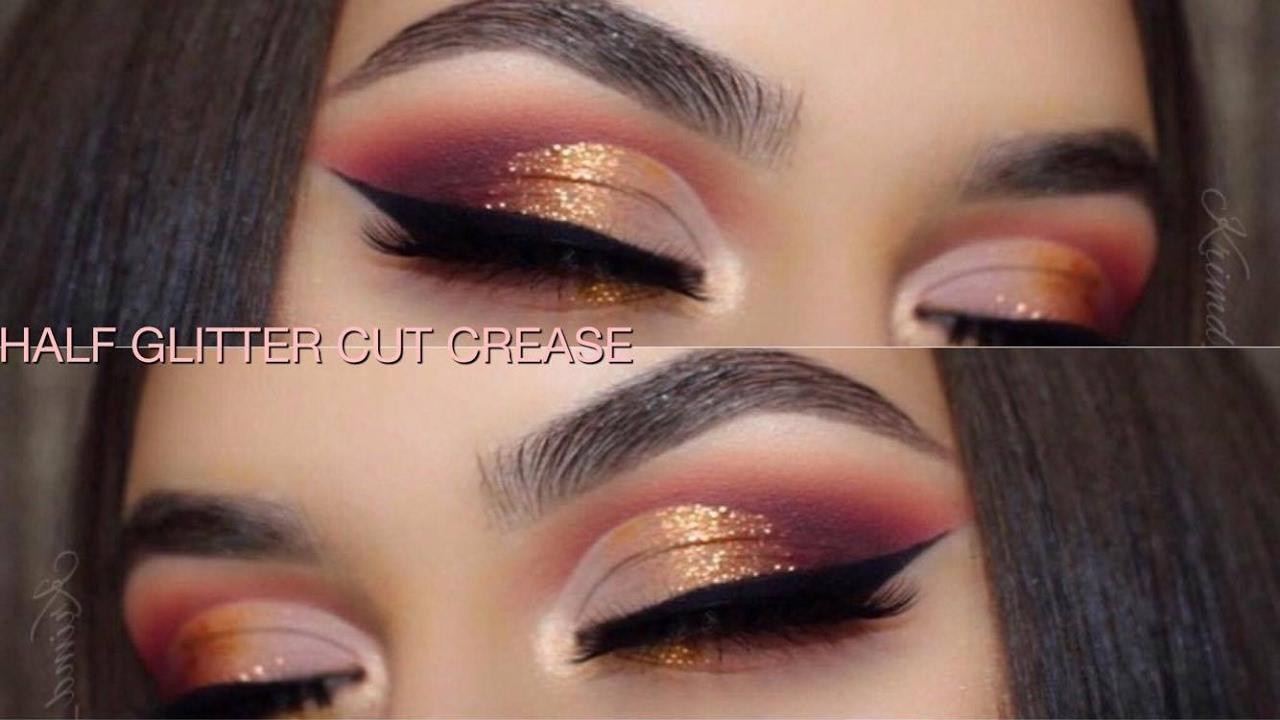 Warm Half Glitter Cut Crease Violet Voss Holy Grail Palette Youtube