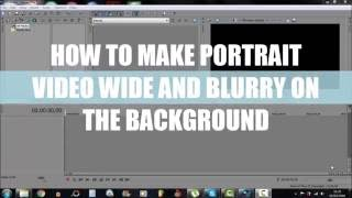 SONY VEGAS: How to make blurry background on portrait videos!!