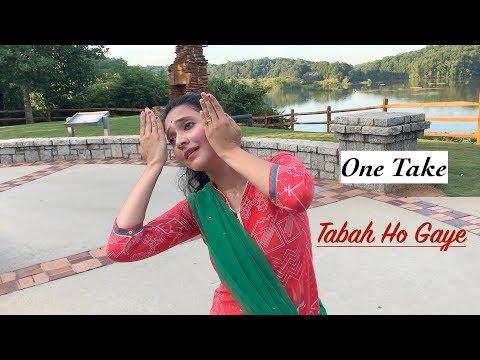 Tabaah Ho Gaye Dance | One Take | Practice Video | Saroj Khan Choreography