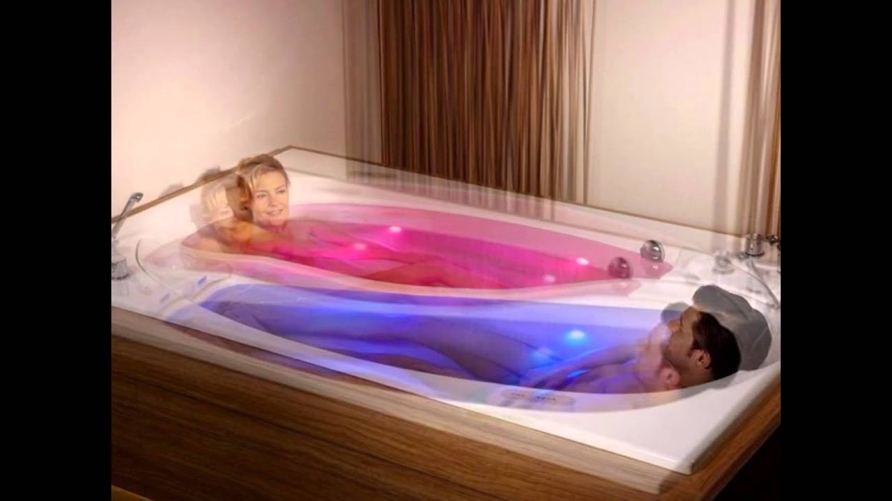Yin Yang is a large bathtub for two people .. Amazing - YouTube