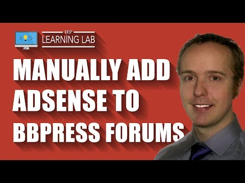 How To Manually Add Adsense To bbPress Forums