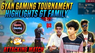 GYAN GAMING TOURNAMENT FINAL GT FAMILY ATTACKING SQUAD MATCH | YOUTUBERS BATTLE TAMIL |RITESH GAMING