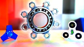 WORLD'S BIGGEST HAND SPINNER FIDGET TOY! How to Make DIY Spinners!