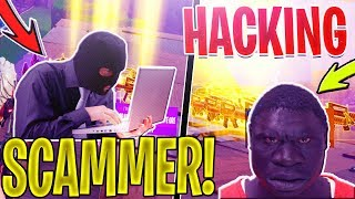 ANGRY African DAD Scams a HACKING Scammer -GOES WRONGMD In Fortnite Save The World