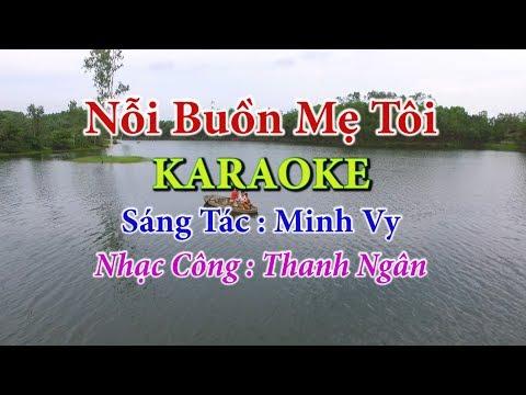 Nỗi Buồn Mẹ Tôi | Karaoke  - Toe Nữ | Nhạc Sống Thanh Ngân