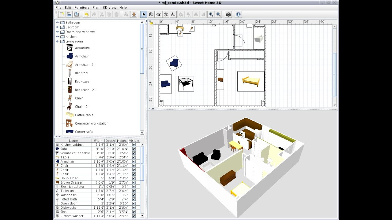 Tutorial dasar sweet home 3d indonesia youtube for Sweet home 3d arredamento