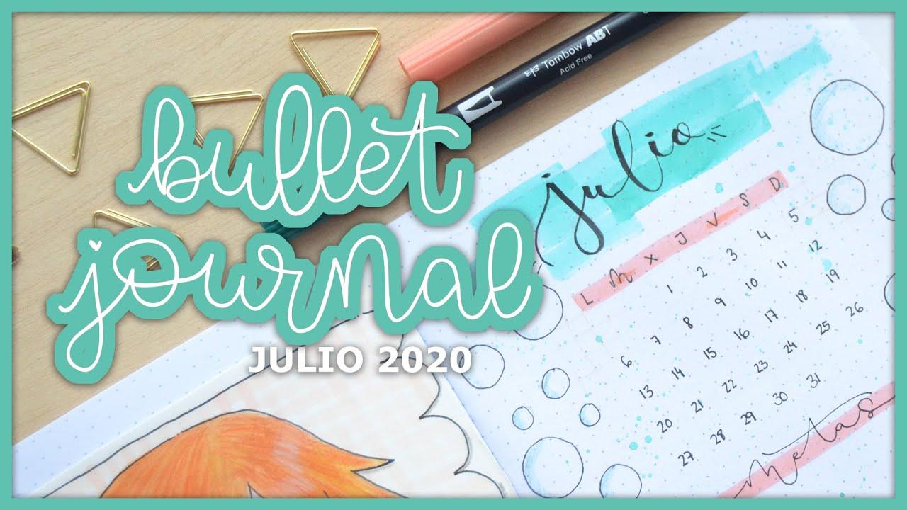 Bullet Journal Julio 2020 - Peces y burbujas - UGDT
