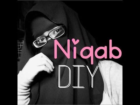 HOODIE NIQAB  using square scarf