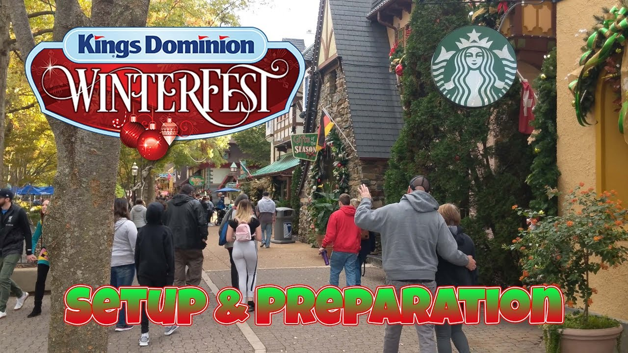 Kings Dominion setting up for Winterfest - YouTube