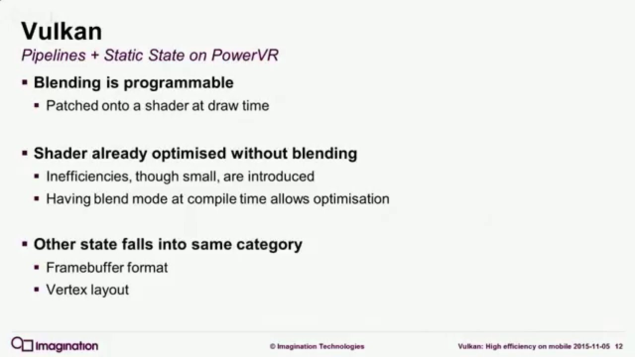 Vulkan: Architecture positive or how the Vulkan API works for PowerVR GPUs