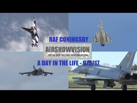 RAF CONINGSBY - A DAY IN THE LIFE / DISPLAY CLIPS 2017 - 9th March  (airshowvision)