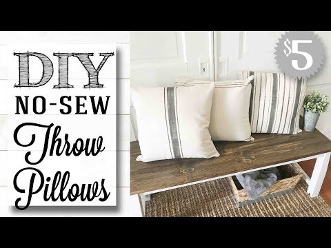 DIY Farmhouse Throw Pillows | NO SEW