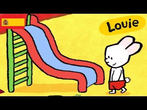 Tobog谩n - Louie dibujame un tobog谩n | Dibujos animados para ni帽os