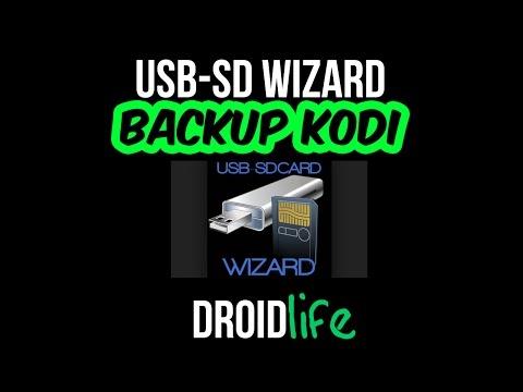 Backup Kodi Using USB-SD Wizard. Easy To Follow Video