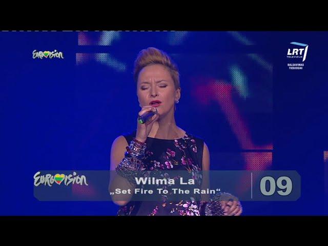 "Eurovision Lithuania (Heat 2), World Hit night, Adele ""Set Fire To The Rain"""