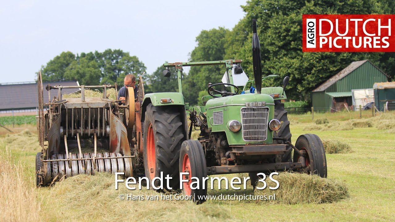 baling hay with this beauty oldtimer baler fendt farmer. Black Bedroom Furniture Sets. Home Design Ideas