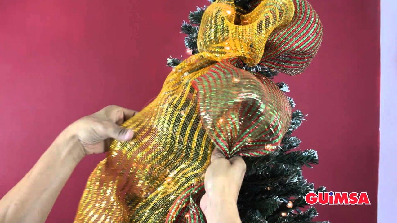 Como colocar tus mallas navide as en el arbol de navidad - Como hacer cosas de navidad ...