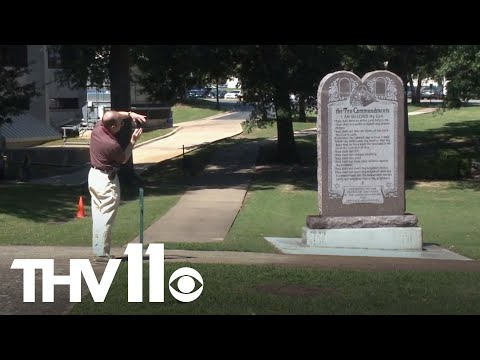 Controversial 10 Commandments monument erected at Arkansas State Capitol