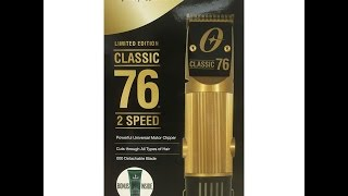 oster 76 gold clipper review unboxing limited edition
