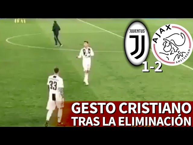 El gesto de reproche que Cristiano le hizo al banquillo de la Juve tras caer vs. Ajax   Diario AS