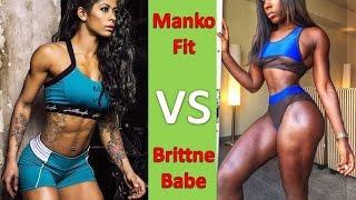Mankofit (massy Arias) Vs Brittnebabe Gym Workout Routines - Female Muscle Motivation!