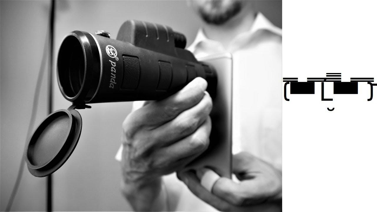 🔎 panda 35 x 50 monocular smartphone clip telescope test