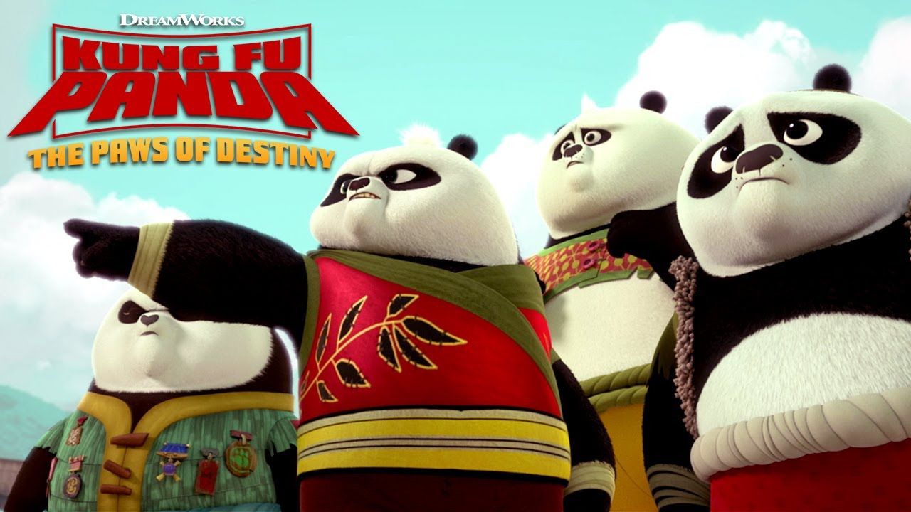 Kung Fu Panda: The Paws of Destiny — Po teaches four cubs how to