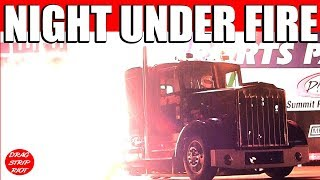 2013 Night Under Fire Bob Motz Jet Kenworth Finale King of Quake Nostalgia Drag Racing Videos