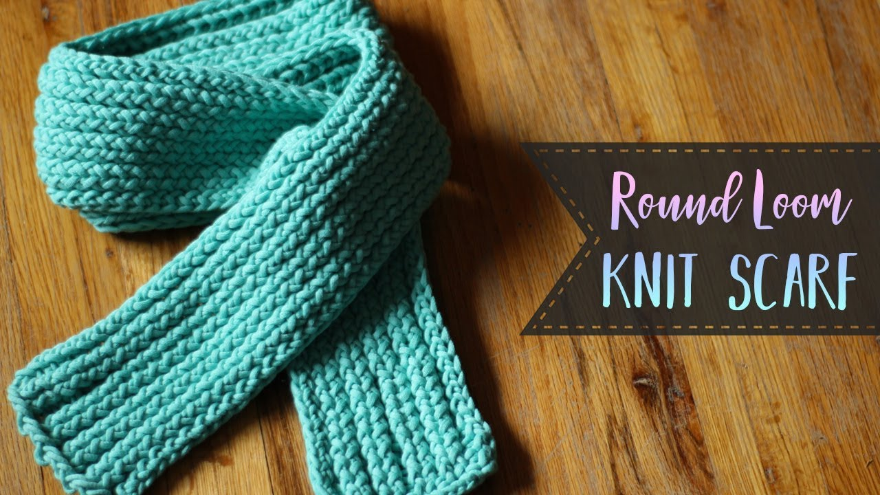 how to loom knit a scarf e wrap purl slip stitches for
