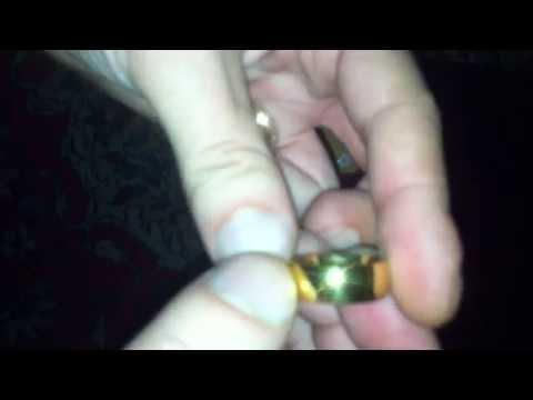 Распаковка Кольцо золотое обручальное (ширина 8 мм, размер 10)