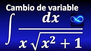 306. Integral de función irracional (con radicales) mediante cambio de variable