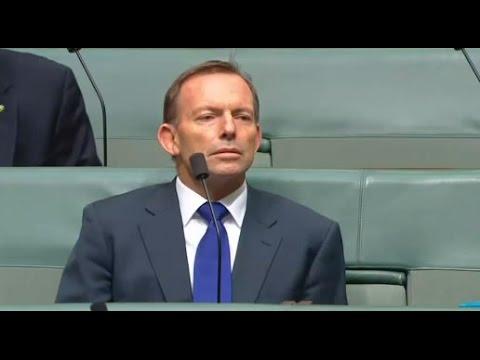 "The moment Malcolm Turnbull takes ""friendly fire"" from a Tony Abbott Adler shotgun Tweet"