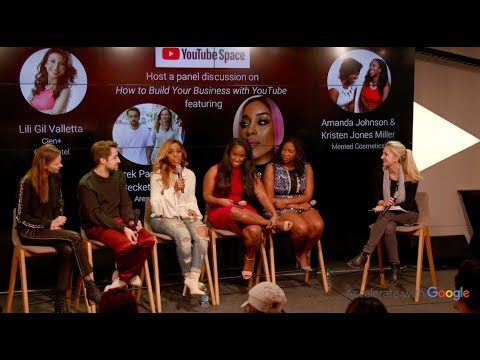 "Jackie Aina, Mented cofounders, Area NYC cofounders : ""Build your Business with YouTube"""