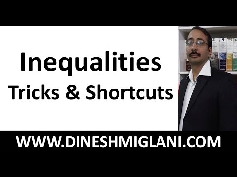 BEST TRICKS AND SHORTCUT OF INEQUALITIES FOR IBPS AND SBI PO EXAM