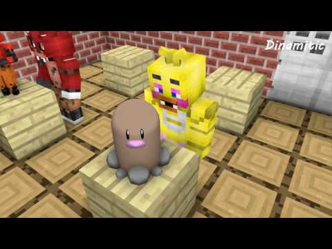 FNAF vs Mobs: Build Battle Create Pokemon Challenge - Monster School