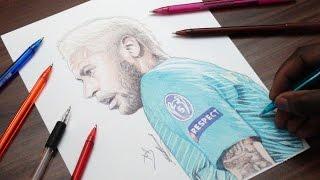 Drawing Neymar Jr - INKTOBER DAY 1 - FC Barca - DeMoose Art