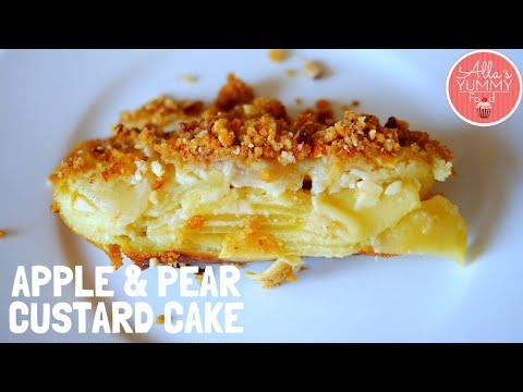 UNREAL CUSTARD APPLE & PEAR CAKE RECIPE | Incredibly Creamy Cake