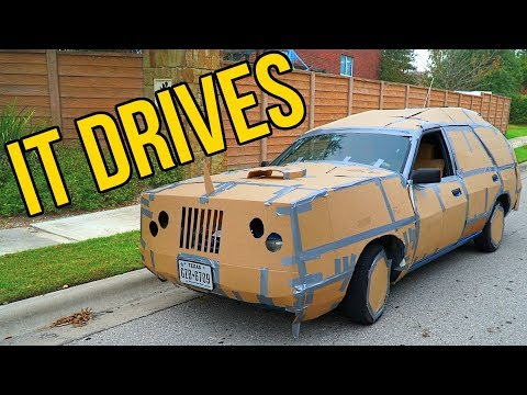 HOMEMADE DRIVABLE CAR BOX FORT CHALLENGE!