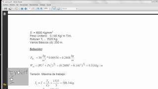 Ecuacion de cambio de estado (calculo mecanico de conductores) hp50g