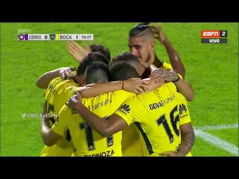 Gol de Barrios (0-1) / Cerro Porteño 1 – 2 Boca Juniors – Amistoso Internacional 2017