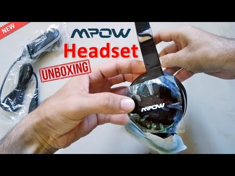 MPOW Wired USB Headset Unboxing and Review - MPOW 071 Budget Headset 2019