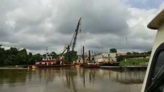 Ouachita River flood waters at Camden Arkansas May 20, 2015. During high water.