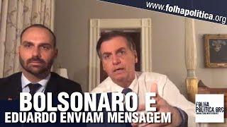 URGENTE: Presidente Bolsonaro e Eduardo Bolsonaro fazem transmissão ao vivo para o povo bras.. thumbnail