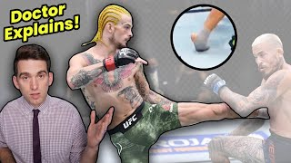 Sean O'Malley Devastating Foot Injury at UFC 252 - Doctor Explains What Happened!