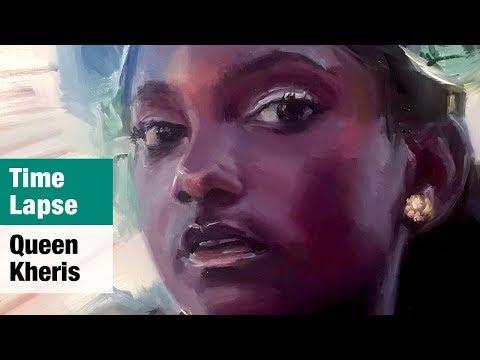 Time Lapse Portrait Painting - Queen Kheris