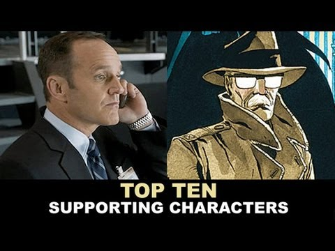 Top Ten Comic Book Supporting Characters - Agent Coulson, Jim Gordon, Maria Hill